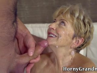 Tongued old darling fucked