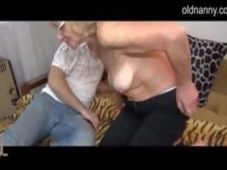 Partner Licking And Fucking Old Granny